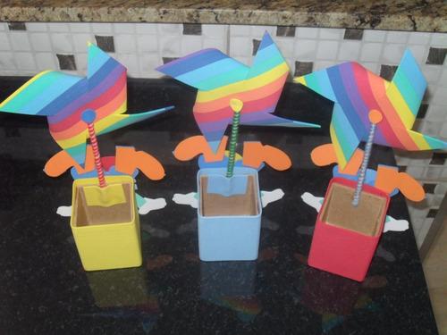 enfeites eva cachepo circo /palhaço kit c/ 10 centro de mesa