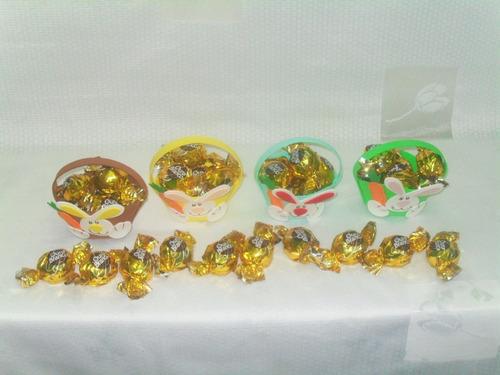 enfeites eva coelho da páscoa kit com 30 cestas de páscoa