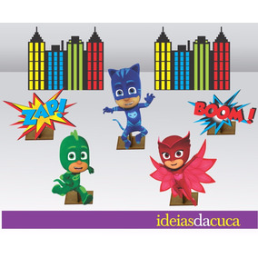 Enfeite De Mesa Mdf Kit Festa Pj Masks Totem Display
