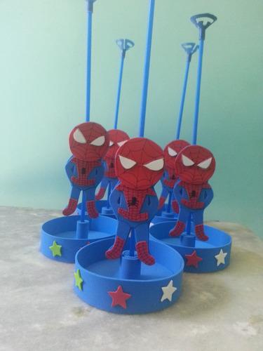 enfeites para mesas homem aranha kit 10 un