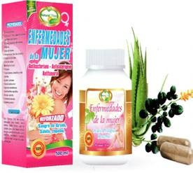 enfermedades mujer natural plus cap 100 ext 500ml