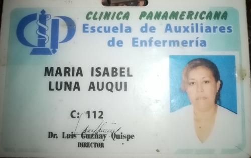 enfermera auxiliar