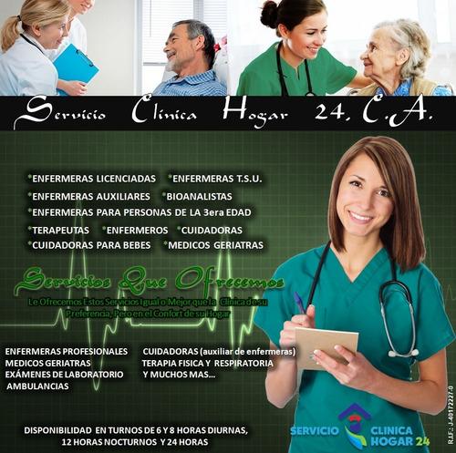 enfermera enfermero enfermería cuidadora privada a domicilio