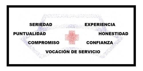 enfermera y cuidadora profesional a domicilio. servicio
