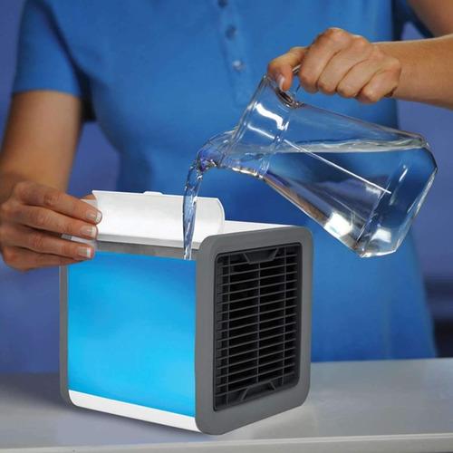 enfriador aire portátil personal ventilador luz led