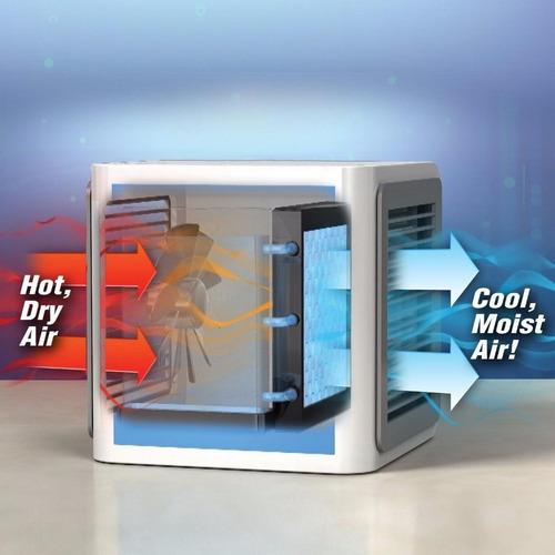 enfriador de aire oficina luces led mini humidificador fan