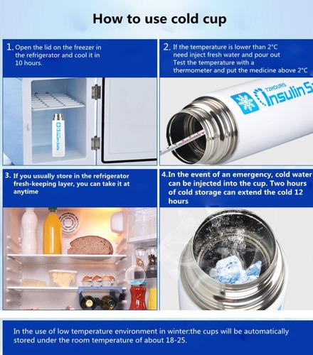 enfriador de la insulina refrigerador de la taza-insulina
