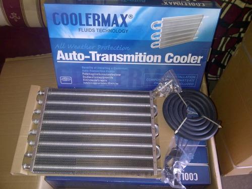 enfriador o serpentin, radiador aceite 6 y 8 tubos caja auto