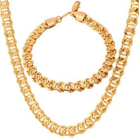 dc9815f88416 Enfriar Cadenilla Doble 18k Oro Collar Grueso Plateado.