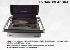 Engargoladora Fellowes Quasar P/500 Hojas Manual