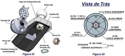 engate de reboque rabicho jetta variant 2007 2008 2009 2010 capacidade de tração 800 kg peso sobre a bola 50 kg