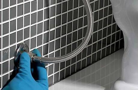 engate flexível de aço inox 60cm de alta qualidade, biducha