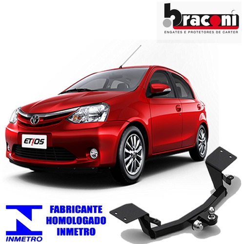 engate reboque braconi toyota corrolla etios ratch sedan