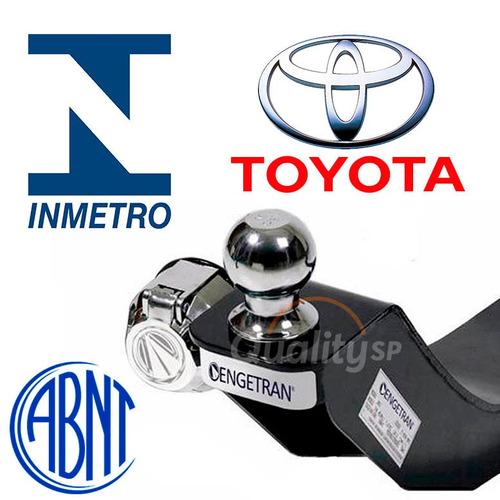 engate reboque inmetro toyota etios hatch 12/14 com garantia