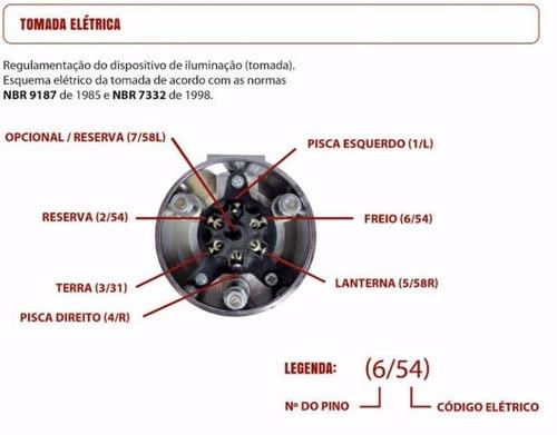 engate reboque rabicho s10 2001 2002 2003 até 2011 900 kg