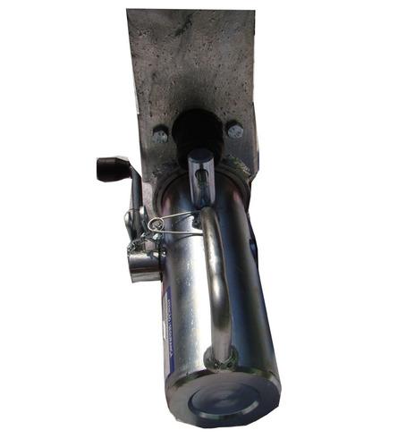engate trava com freio para carretinha 2.5 t reboque munheca