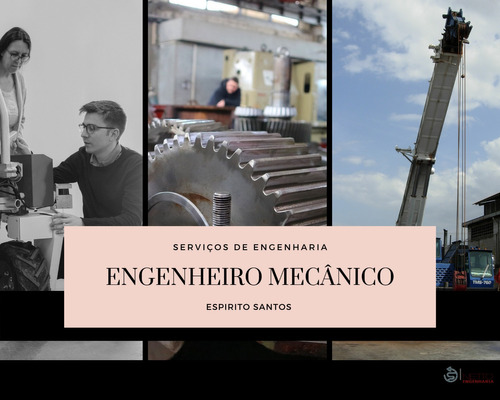 engenheiro mecânico para es e região p/ laudo técnico e art