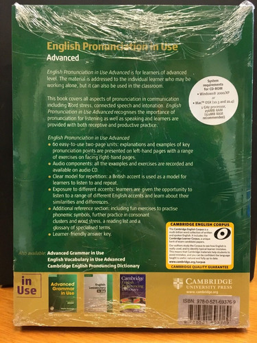 english pronunciation in use advanced with audio/rom cd