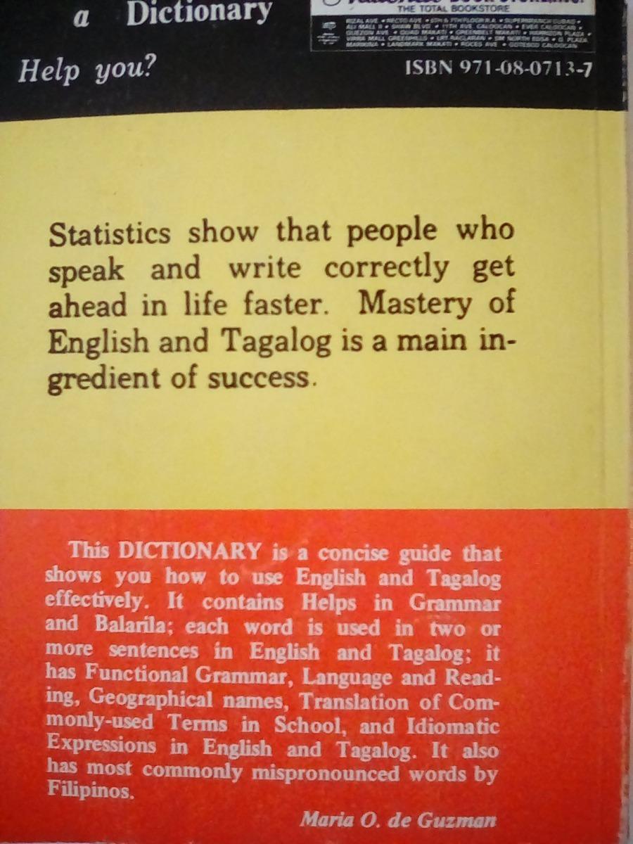 TAGALOG ENGLISH DICTIONARY EBOOK