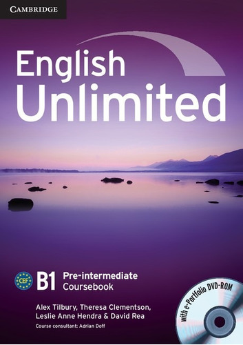 english unlimited b1 pre intermediate - coursebook cambridge