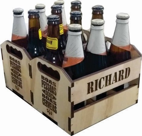 engradado caixa cerveja presente lembrança personalizado