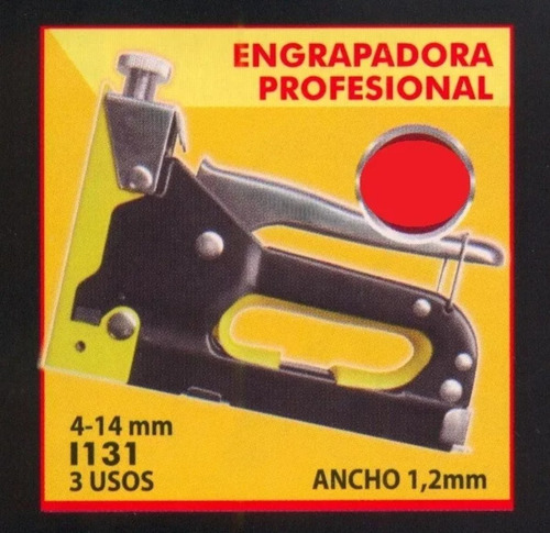 engrampadora profesional metálica black jack 4-14 mm
