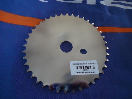engranaje bicicleta playera bmx compact 40 dientes cromado - racer bikes