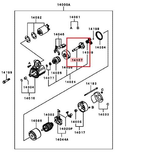 engranaje de arranque mitsubishi lancer tipo signo mirage