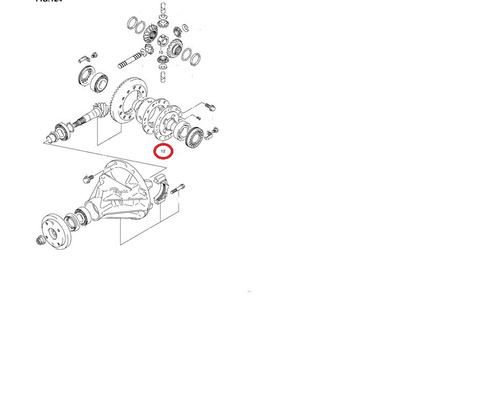 engranaje diferencial trasero gran vitara original suzuki