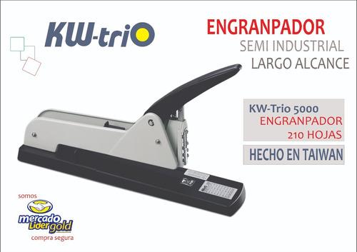 engranpador semi industrial p/ 210 hojas m/largo kwtrio 5000
