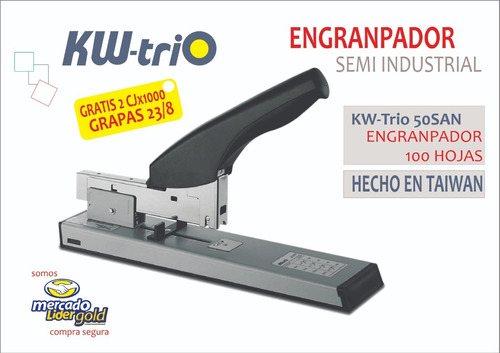 engrapador semi industrial p/100 hojas kwtrio 50san