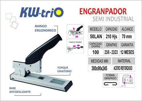 engrapador semi industrial p/210 hojas kwtrio 50lan