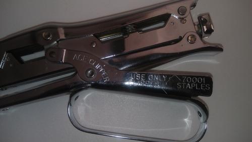 engrapadora ace clipper #702 tipo alicate, metalica usa