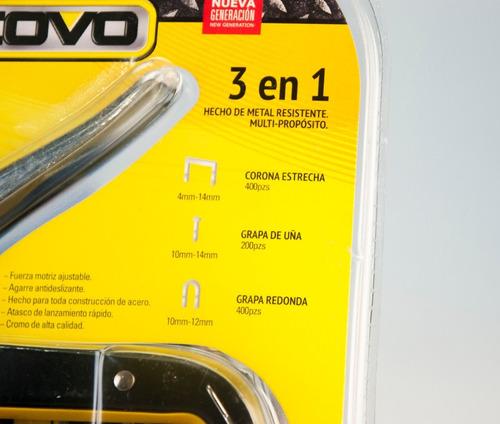 engrapadora de tapiceria + grapas de acero ccs nueva