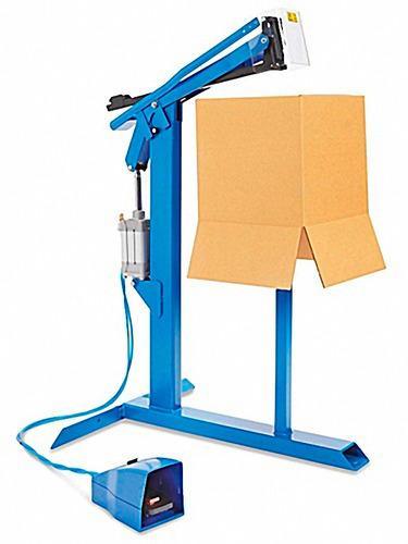 engrapadora neumatica para fondos de caja de carton 100/hora