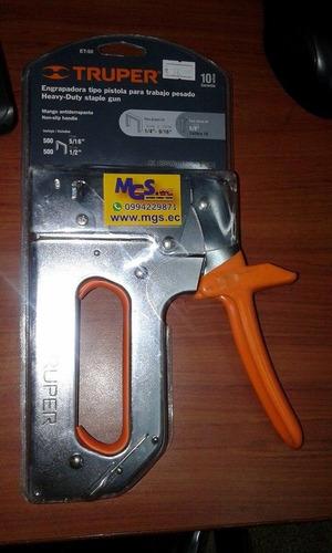 engrapadora tipo  pistola para trabajo pesado marca truper