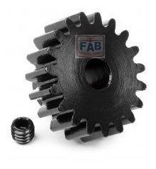 engrenagem pinhão aço 20t mod1 5mm vorza gt2 traxxas hpi