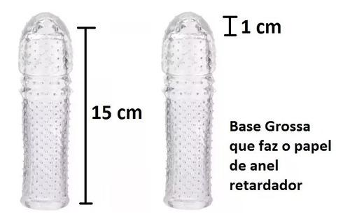engrossa pinto borracha capa peniana 15cm pênis aumenta top!