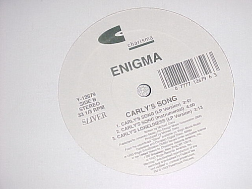 enigma - carly's song ( original mix + remixes ) promo only