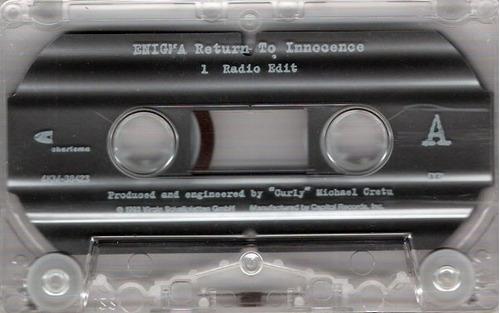 enigma return to innocence cassette maxi single tape 90's.