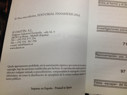 enigmas - muerte y reencarnación - panamericana