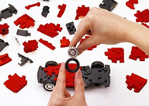enigmas,puzzle de coches en 3d (hummer  h2  rojo)