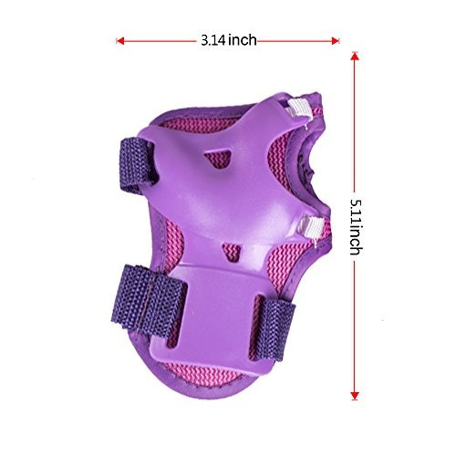 enilecor kids knee pads, set de engranajes protectores para