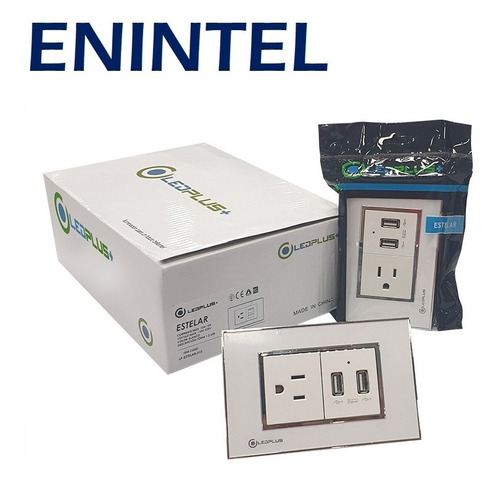 enintel- toma corriente de pared cargador usb empotrable