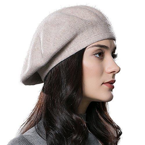 a6d1761ef3a23 Enjoyfur Sombrero De Boina De Lana Para Mujer Sombrero De Pu ...