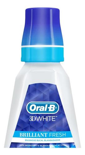 enjuague bucal blanqueador oral b 3d white 473 ml
