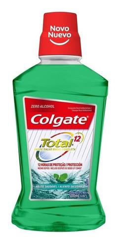 enjuague bucal colgate total 12 aliento saludable 500ml