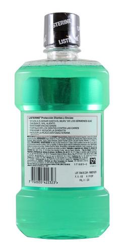 enjuague bucal listerine defensa de dientes y encias 500 ml
