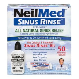 Enjuague Nasal Neilmed Sinus Rinse Kit Botella 50 Paquetes