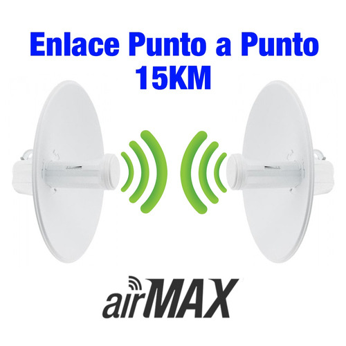 enlace wireless punto a punto 5.8ghz snp2p15k hasta 15 km